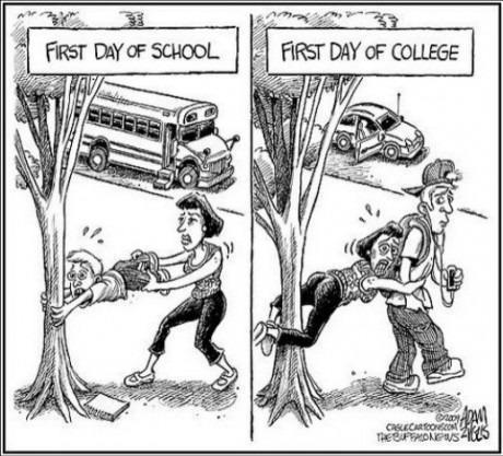 First day of school and first day of college–English Jokes