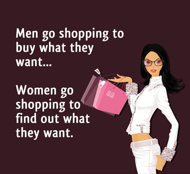 Difference between Men and Women in shopping --English Jokes