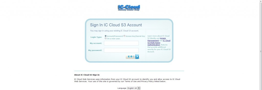 CACSS Open Source Cloud Storage System Web Login Portal