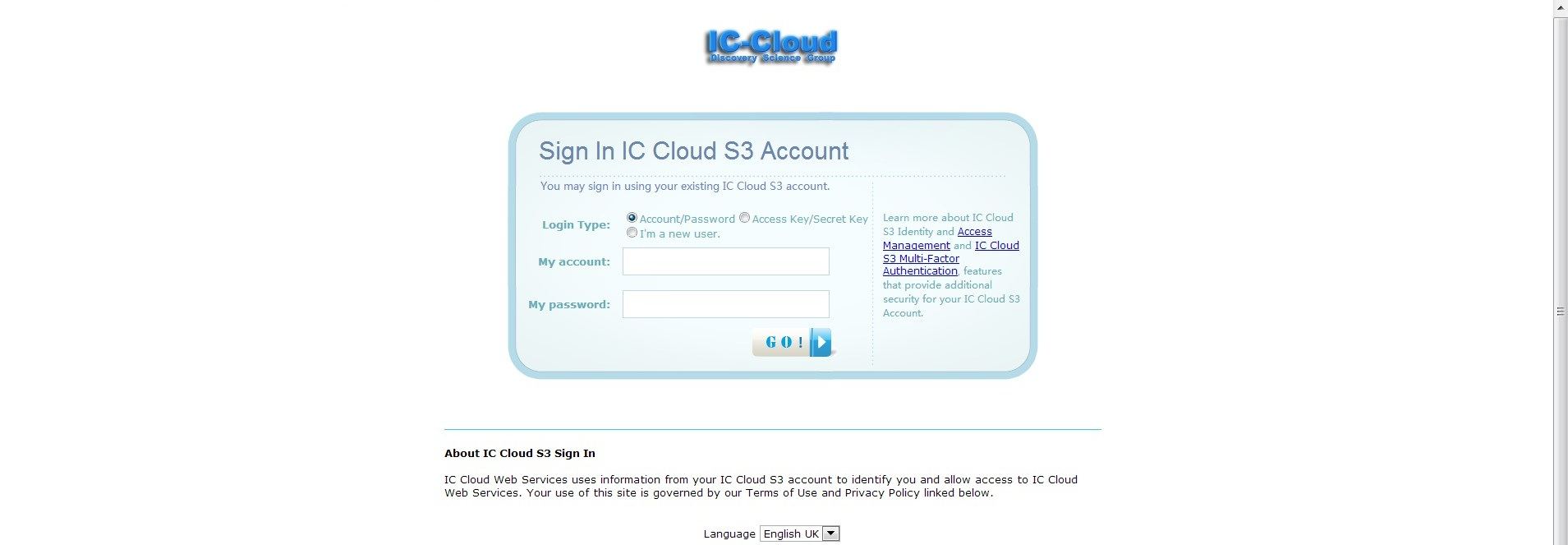 CACSS Cloud Storage System Web Login Portal